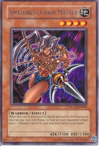 YuGiOh Dark Legends Single Card Rare DLG1-EN098 Amazoness Chain Master