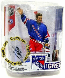McFarlane Toys NHL Sports Picks Legends Series 6 Action Figure Wayne Gretzky (New York Rangers) Blue Jersey