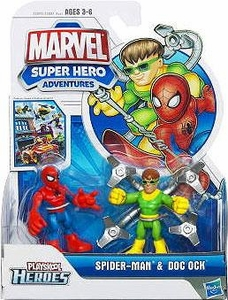 Marvel Playskool Spider-Man Adventures Mini Figure 2-Pack Spider-Man & Doc Ock
