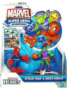 Marvel Playskool Spider-Man Adventures Mini Figure 2-Pack Spider-Man & Green Goblin