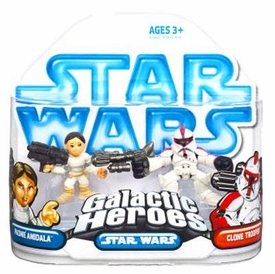 Star Wars Galactic Heroes Mini Figure 2-Pack Padme & Clone Trooper