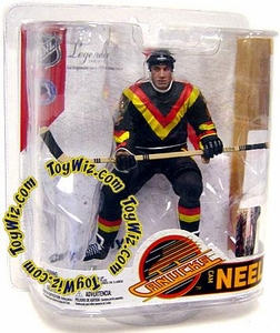 McFarlane Toys NHL Sports Picks Legends Series 6 Action Figure Cam Neely (Vancouver Canucks) Retro Orange & Yellow Stripes Variant