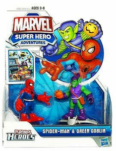 Marvel Playskool Super Hero Adventures Mini Figure 2-Pack Spider-Man & Green Goblin