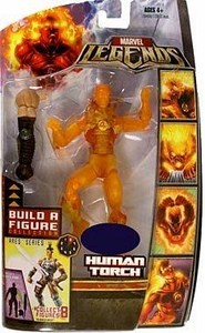 Marvel Legends Exclusive Ares Build-A-Figure Wave Action Figure Human Torch