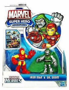 Marvel Playskool Super Hero Adventures Mini Figure 2-Pack Iron Man & Dr. Doom