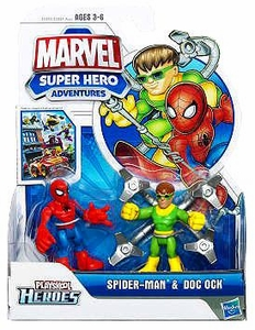 Marvel Playskool Super Hero Adventures Mini Figure 2-Pack Spider-Man & Doc Ock