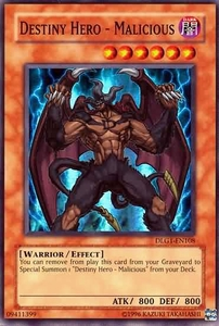 YuGiOh Dark Legends Single Card Super Rare DLG1-EN108 Destiny Hero - Malicious
