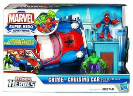 Marvel Playskool Super Hero Adventures Deluxe Vehicle Crime Cruisin' Car