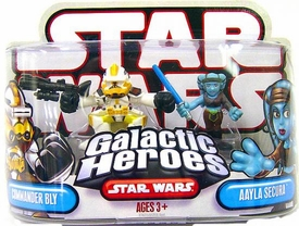 Star Wars Galactic Heroes Mini Figure 2-Pack Commander Bly & Aalya Secura