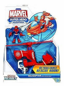 Marvel Playskool Super Hero Adventures Vehicle Spiderman's Helicopter