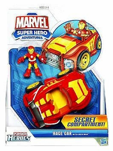 Marvel Playskool Super Hero Adventures Vehicle Iron Man's Racecar