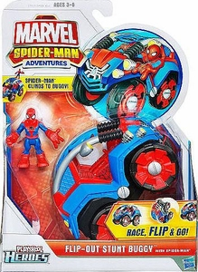 Marvel Playskool Spider-Man Adventures Vehicle Flip-Out Stunt Buggy