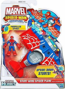 Marvel Playskool Spider-Man Adventures Vehicle Stunt Wing Spider Plane