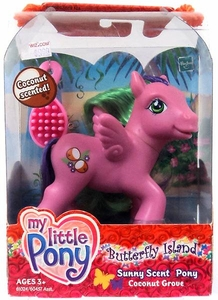 My Little Pony Butterfly Island Sunny Scent Pony Figure Coconut Grove