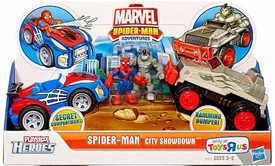 Marvel Playskool Super Hero Adventures Exclusive Playset Spider-Man City Showdown