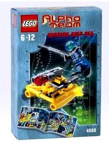 LEGO Alpha Team Set #4800 Mission Deep Sea AT Jet Sub