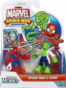 Marvel Playskool Spider-Man Adventures Mini Figure 2-Pack Spider-Man & Lizard