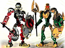 LEGO Bionicle Special Edition Collector Pack Set #65757 Guardian Toa {Norik & Iruini} [#8762 & #8763] Package is Opened; MINT Contents!