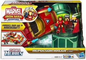 Marvel Playskool Heroes Iron Man Adventures Exclusive  Repulsor Racer [Iron Man & Thor Mini Figures]