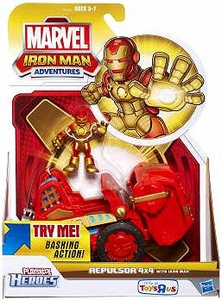 Marvel Playskool Heroes Iron Man Adventures Exclusive Repulsor 4x4 [Iron Man Mini Figure] BLOWOUT SALE!