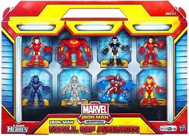 Marvel Playskool Heroes Iron Man Adventures Exclusive Mini Figure 8-Pack Hall of Armor
