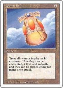 Magic the Gathering Revised Edition Single Card Rare Kormus Bell Slightly Played