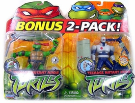 Teenage Mutant Ninja Turtles TMNT Action Figures BONUS 2-Pack Raphael and Foot Gunner Damaged Package, Mint Contents!