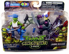 Teenage Mutant Ninja Turtles TMNT Mini Mutants 2-Pack Extreme Sports Leonardo & Jammerhead