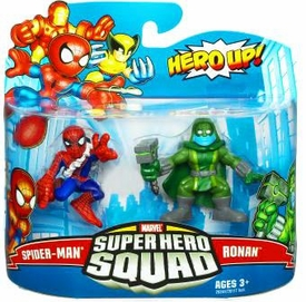 Marvel Super Hero Squad Series 19 Mini 3 Inch Figure 2-Pack Spider-Man & Ronan