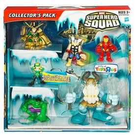 Hasbro Marvel Super Hero Squad Exclusive Collector's 6-Pack Box Set [Thor, Iron Man, Hulk, Enchantress, Loki & Deluxe Savage Frost Giant]
