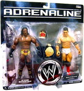 WWE Jakks Pacific Wrestling Adrenaline Series 23 Action Figure 2-Pack Batista & Booker T