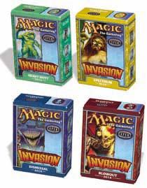 Magic the Gathering Invasion Theme Deck Set of 4 Decks