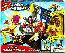 Marvel Super Hero Squad 3-D Pop Up Playset X-Men: Danger Room [Wolverine & Sabretooth Figures]