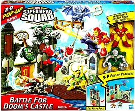 Marvel Super Hero Squad 3-D Pop Up Playset Battle For Doom's Castle [Iron Man & Dr. Doom Figures]