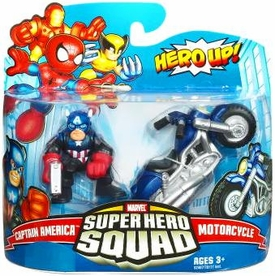 Marvel Super Hero Squad Series 17 Mini 3 Inch Figure 2-Pack Captain America & Motorcycle