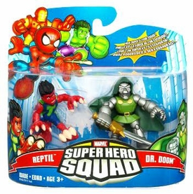 Marvel Super Hero Squad Series 17 Mini 3 Inch Figure 2-Pack Reptil & Dr. Doom