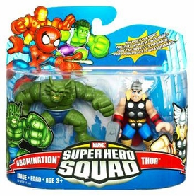Marvel Super Hero Squad Series 17 Mini 3 Inch Figure 2-Pack Thor & Abomination