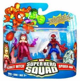 Marvel Super Hero Squad Series 17 Mini 3 Inch Figure 2-Pack Spider-Man & Scarlet Witch