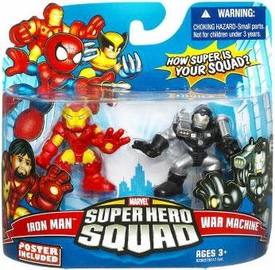 Marvel Super Hero Squad Series 16 Mini 3 Inch Figure 2-Pack Iron Man & War Machine BLOWOUT SALE!