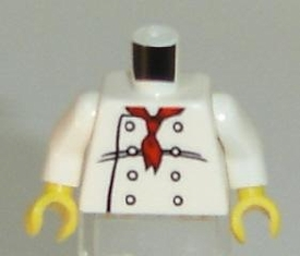 LEGO LOOSE Torso Chef with Red Neckerchief