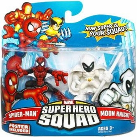 Marvel Super Hero Squad Series 16 Mini 3 Inch Figure 2-Pack Spider-Man & Moon Knight