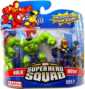 Marvel Super Hero Squad Series 15 Mini 3 Inch Figure 2-Pack Hulk & Nova
