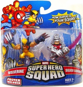 Marvel Super Hero Squad Series 15 Mini 3 Inch Figure 2-Pack Wolverine & Samurai