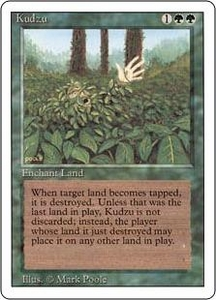 Magic the Gathering Revised Edition Single Card Rare Kudzu