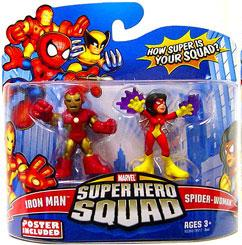 Marvel Super Hero Squad Series 15 Mini 3 Inch Figure 2-Pack Iron Man & Spider-Woman