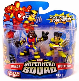 Marvel Super Hero Squad Series 14 Mini 3 Inch Figure 2-Pack Wolverine & Bishop