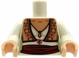 LEGO LOOSE Torso Female White Blouse with Vest & Sash