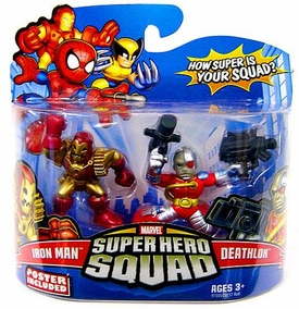Marvel Super Hero Squad Series 14 Mini 3 Inch Figure 2-Pack Deathlok & Iron Man 2020