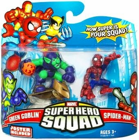 Marvel Super Hero Squad Series 14 Mini 3 Inch Figure 2-Pack Spider-Man & Green Goblin
