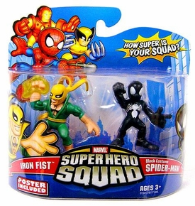 Marvel Super Hero Squad Series 14 Mini 3 Inch Figure 2-Pack Black Costume Spider-Man & Iron Fist